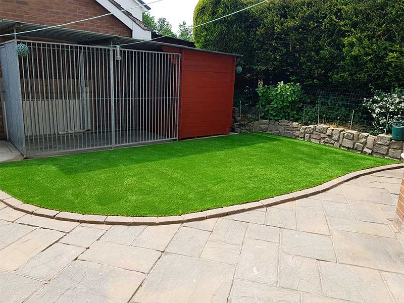Artificial grass for kennels